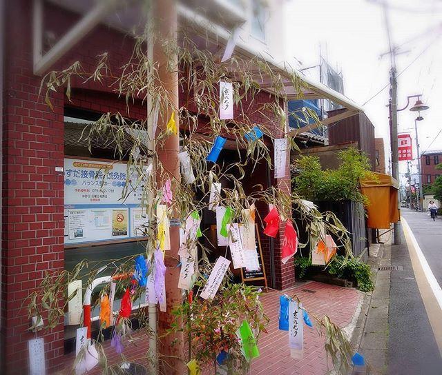 7/1から3日まで、吉祥院商店会では七夕大売出しを開催しております。子供達の願いを書いた短冊がキレイに飾られております。願いがどうか叶いますように…#吉祥院#吉祥院商店会#京の七夕#うすだ接骨院